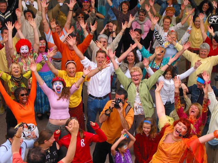 Rassemblement International des Rieurs 2005 organisé par Corinne Cosseron à Frontignan
