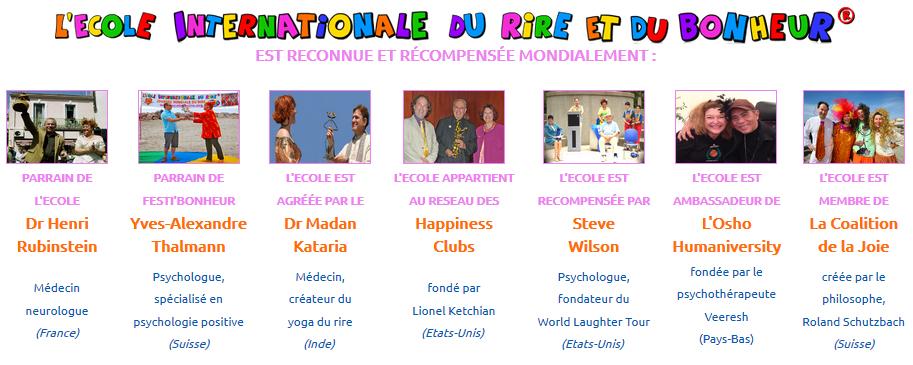 L'Ecole internationale du rire et du bonheur est reconnue et récompensée mondialement.
