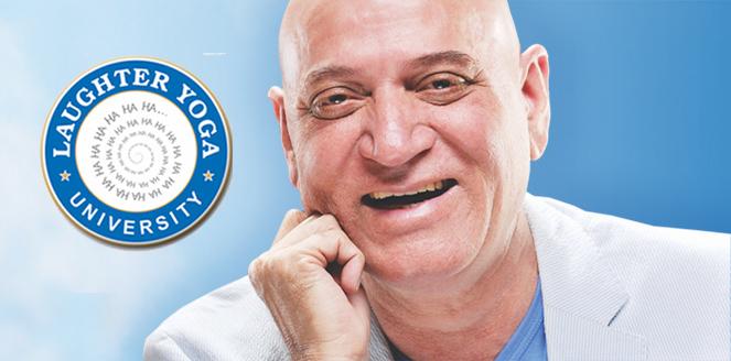 Le Dr Madan Kataria inventeur du yoga du rire. université internationale du yoga du rire