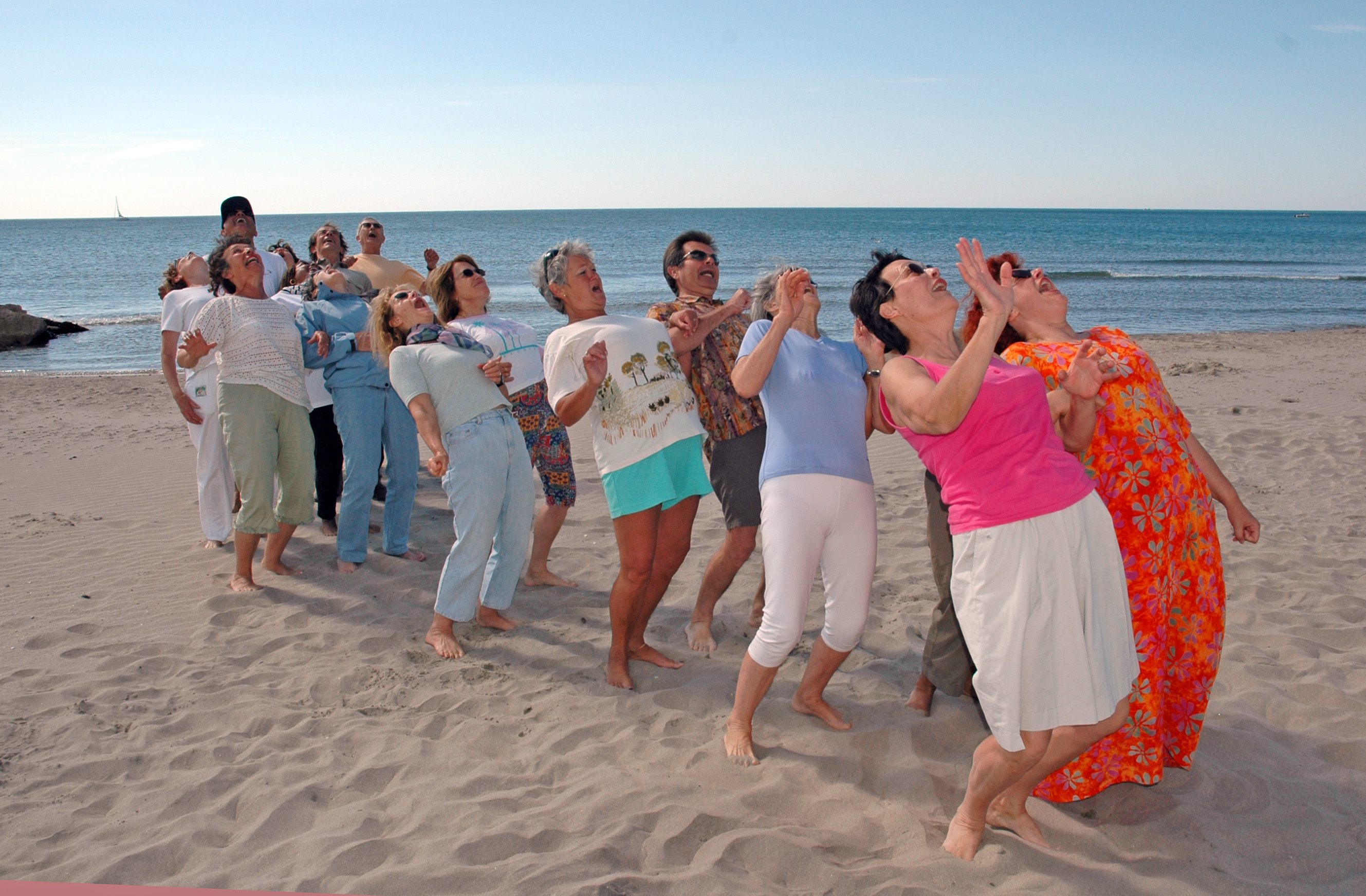 Séance de club de yoga du rire à Frontignan